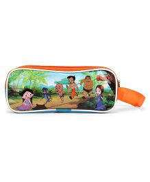 Pep India Chhota Bheem Triple Chain Pencil Pouch - Multi Colour