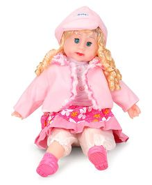 Smiles Creation Doll In Winter Dress Pink - 55 cm