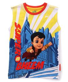 Chhota Bheem Sleeveless Printed T-Shirt - Multicolor