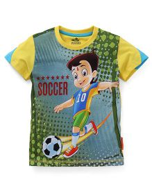 Chhota Bheem Half Sleeves Tee Printed - Multi Color