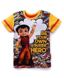 Chhota Bheem Half Sleeves T-Shirt Super Hero Print - Multicolor