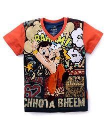 Chhota Bheem Half Sleeves T-Shirt - Orange & Multicolor