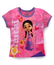 Chhota Bheem Half Sleeves T-Shirt Chutki Print - Pink