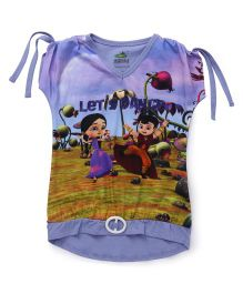 Chhota Bheem Short Sleeves T-Shirt Lets Dance Print - Purple