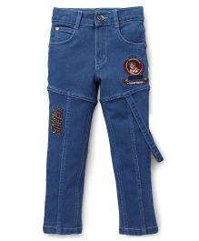 Chhota Bheem Full Length Jeans Soccer Embroidery - Blue