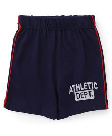 Babyhug Shorts Athletic Dept Print - Blue