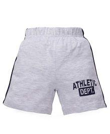 Babyhug Shorts Athletic Dept Print - Grey
