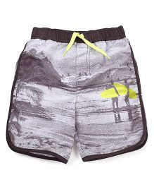 Mothercare Swimming Trunks Surfer Print - Black
