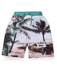 Mothercare Swimming Trunks Beach Print - Multi Color