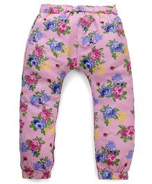 Mothercare Full Length Leggings Floral Printed - Pink