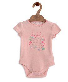 Mothercare Short Sleeves Onesie Slogan Print - Pink