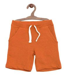 Mothercare Cotton Shorts With Drawstrings - Orange