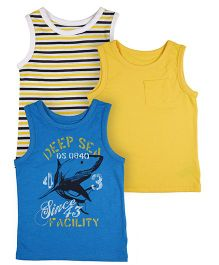Mothercare Sleeveless Vest Pack Of 3 - Multicolor