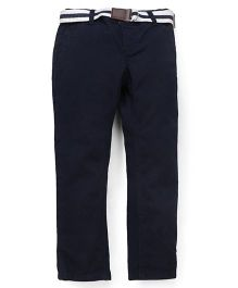 Mothercare Trouser With Belt - Navy Blue