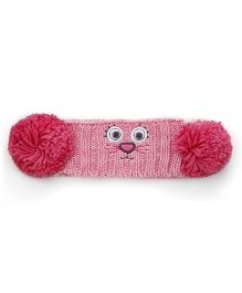 Mothercare Knitted Earmuff Kitty Design - Pink