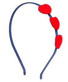 Mothercare Hairband Triple Heart Design - Blue & Red