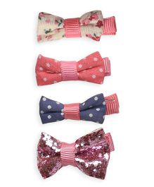 Mothercare Mini Bow Clips Pack Of 4 - Multi Color