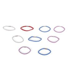 Mothercare Pack Of Elastane Bands - White Red Purple Blue