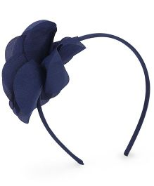 Mothercare Hair Band With Floral Corsage - Navy