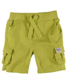 Mothercare Plain Cargo Shorts With Drawstring - Green