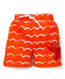 Mothercare Swimming Trunks Crab Applique - Orange