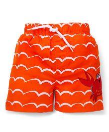 Mothercare Swimming Trunks Crab Applique - Orange