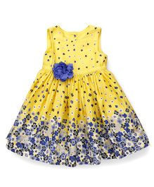Mothercare Sleeveless Frock Multi Print Pack Of 2 - Yellow Blue