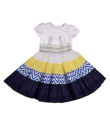 Mothercare Singlet Frock With Tee - White & Yellow