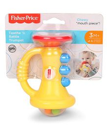 Fisher Price Teethe 'n Rattle Trumpet - Yellow