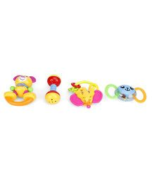 Baby Rattle Set Of 4 (Color May Vary)