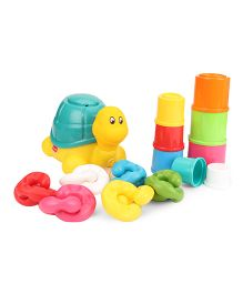 Funskool Giggles Pull Stack N Link Toy Set - Multicolour