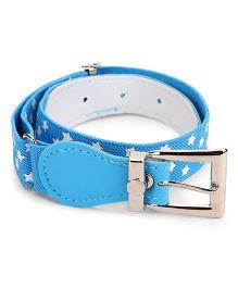 Kid-o-nation Belts Stretchable Star Print Belt - Blue