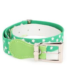 Kid-o-nation Belts Stretchable Star Print Belt - Green