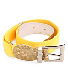 Kid-o-nation Stretchable Belts With Leather Buckle - Yellow