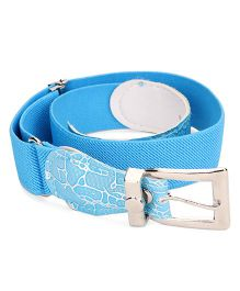 Kid-o-nation Stretchable Belts With Leather Buckle - Blue