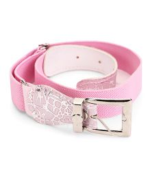Kid-o-nation Stretchable Belts With Leather Buckle - Pink