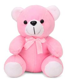 Playtoons Teddy Bear With Bow Pink - 15 cm