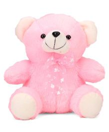 Playtoons Teddy Bear With Bow Pink - 20.3 cm