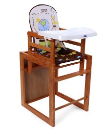 Mee Mee High Chair Teddy Design - Light Brown