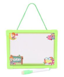 Writing Board Alphabet With Picture And Event Print - Green