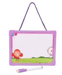 Writing Board Alphabet With Picture And Event Print - Purple