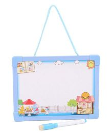 Writing Board Alphabet With Picture And Event Print - Blue