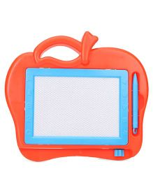 Writing Board With Pencil Apple Shape - Orange And Blue