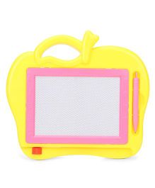 Writing Board With Pencil Apple Shape - Yellow And Pink