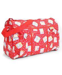 Mee Mee Nursery Bag Multi Print - Red