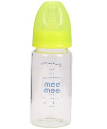 Mee Mee Glass Feeding Bottle Green - 125 ml