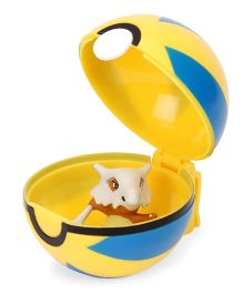 Pokemon Funskool Cubone And Clip N Carry Quick Ball - Yellow Blue