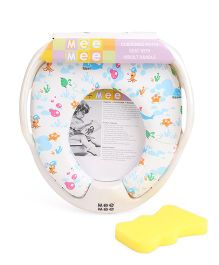 Mee Mee Potty Seat With Handles Animals Print - White