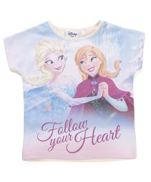 Chemistry Disney Frozen Short Sleeves Top - Blue Purple