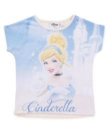 Chemistry Short Sleeves Top Cinderella Print - Blue White